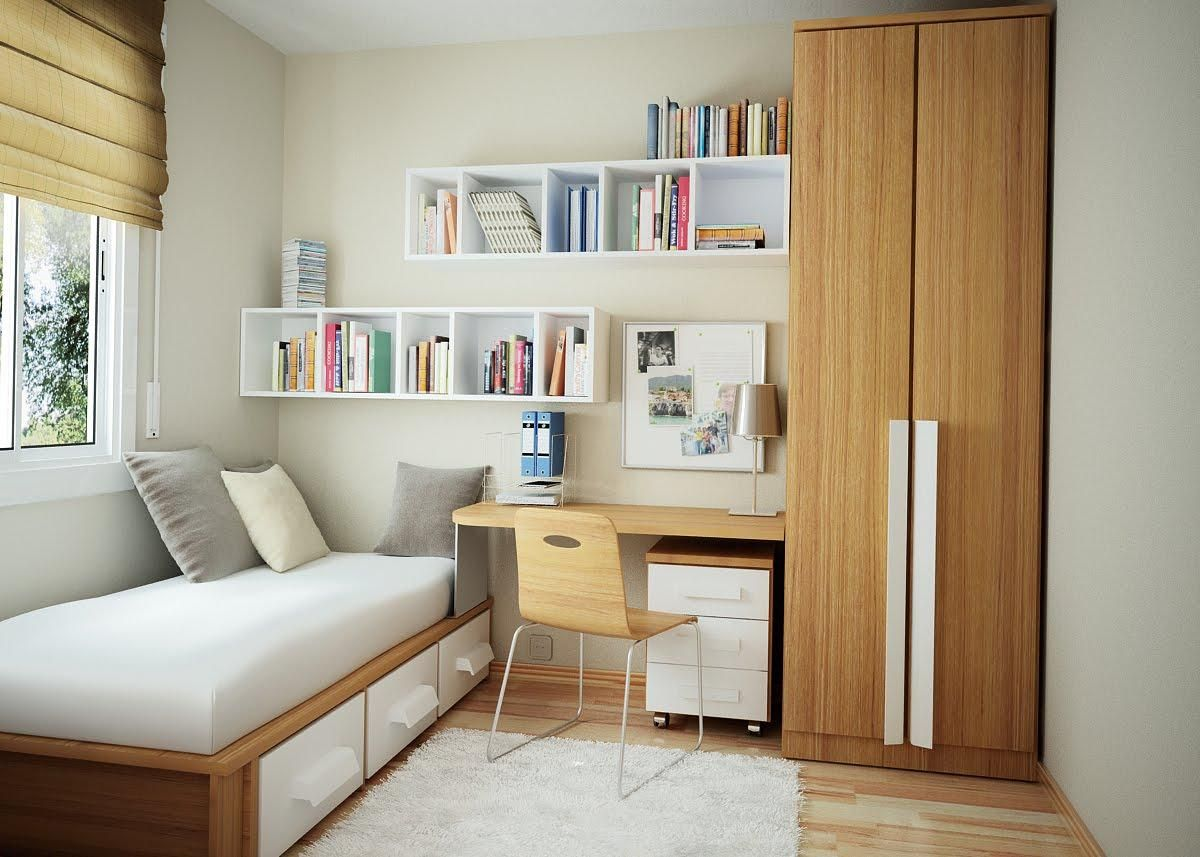 31 ideas for arranging a small bedroom efficiently
